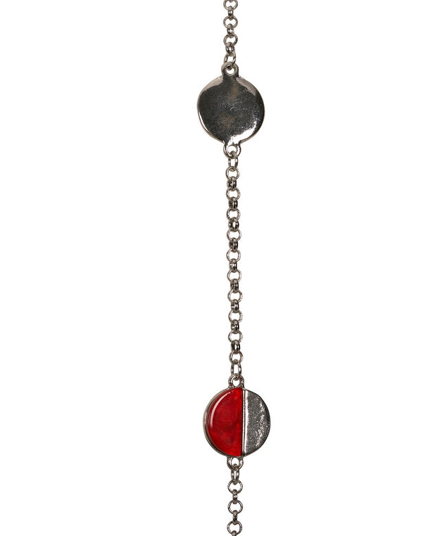 Stationed Geo-Shape Necklace, Poppy/Rhodium, hi-res