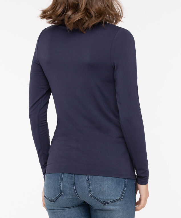 Long Sleeve Layering Essential Turtleneck, Blue, hi-res