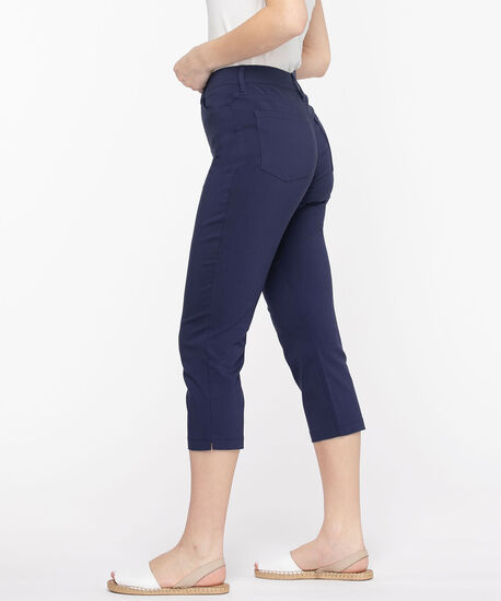 Microtwill Pull-On Crop Pant, Peacoat, hi-res