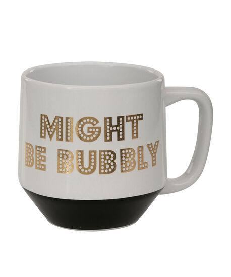 """Bubbly"" Jumbo Mug, Black/Gold/White, hi-res"