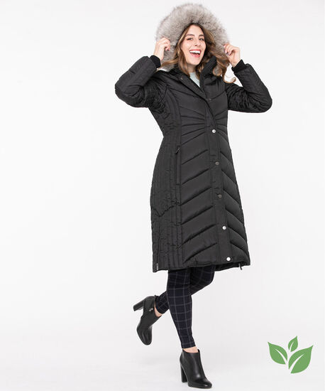 Thermolite® EcoMade Long Puffer, Black, hi-res