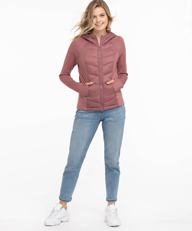 Eco-Friendly Padded Jacket, Rose Brown