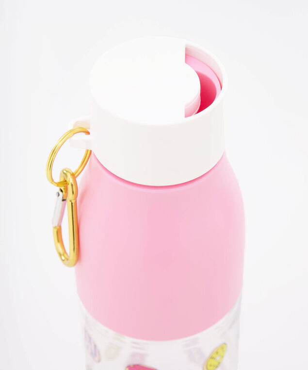 Run For Donuts Water Bottle, Cameo Pink/Soft Teal/True White, hi-res