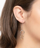 Intertwined Mixed Metal Ring Earring, Rhodium/Gold, hi-res