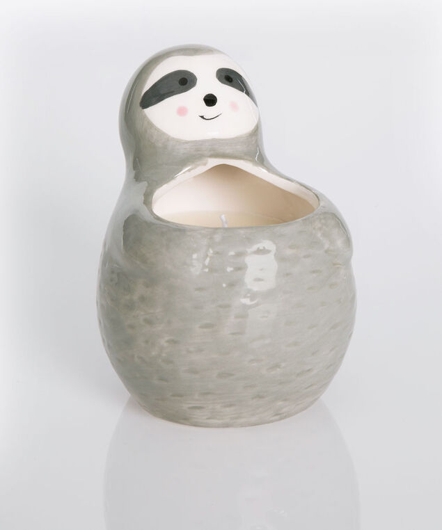 Scented Sloth Candle, Grey, hi-res