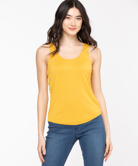 Double Layer Smoothing Cami, Mustard, hi-res
