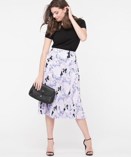 Pleated Midi Skirt, Lilac/Pearl/Summer Navy, hi-res