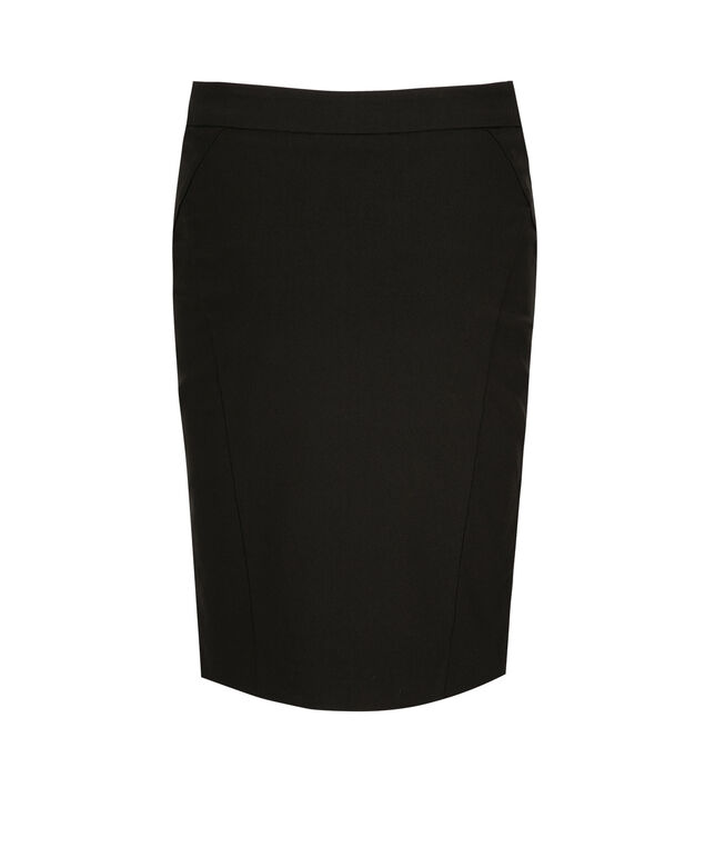 Microtwill Basic Skirt, Black, hi-res