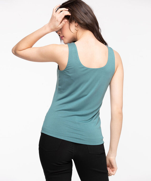 Double Layer Smoothing Cami, Mallard Blue