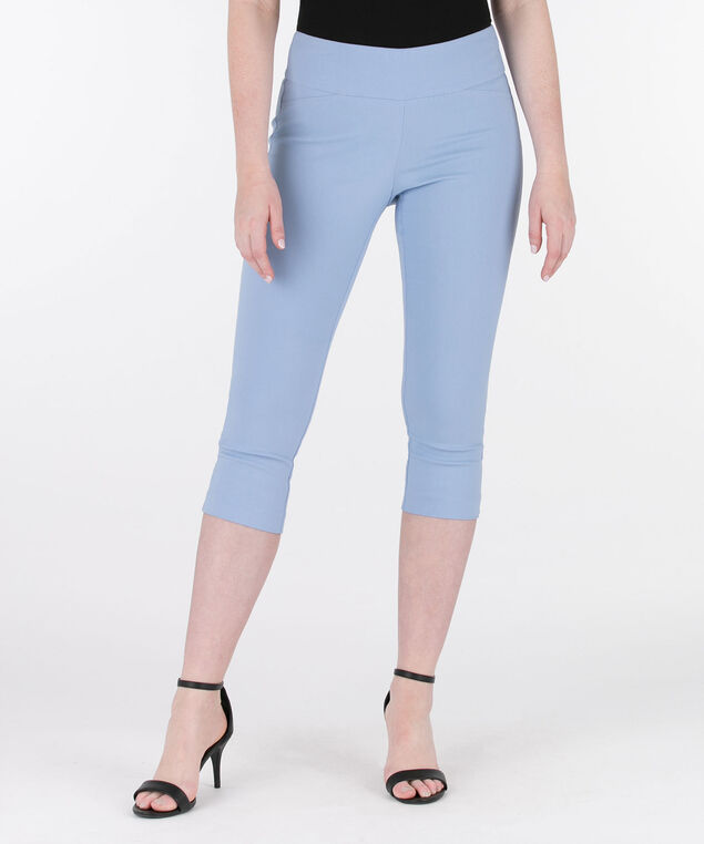 Back Slit Microtwill Capri, Light Blue, hi-res