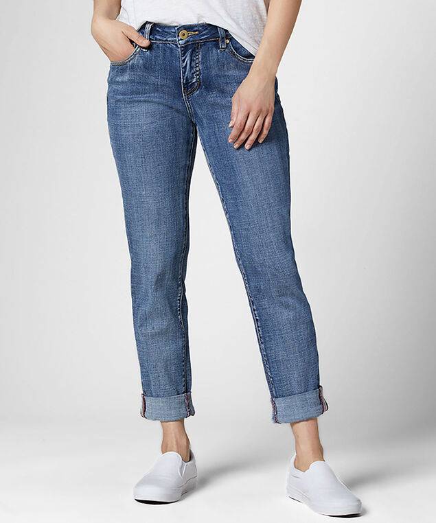 Carter Mid Rise Girlfriend Jeans, Mid Vintage