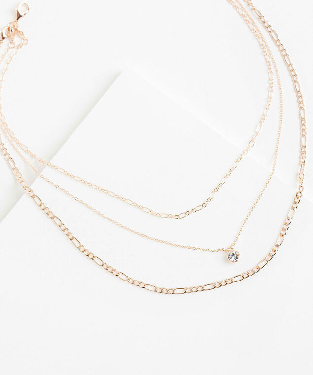Rose Gold Convertible Necklace, Rose Gold