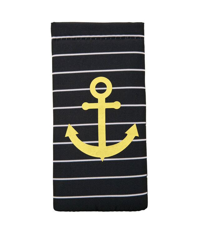Anchor Print Sunglass Case, Navy/White/Gold, hi-res