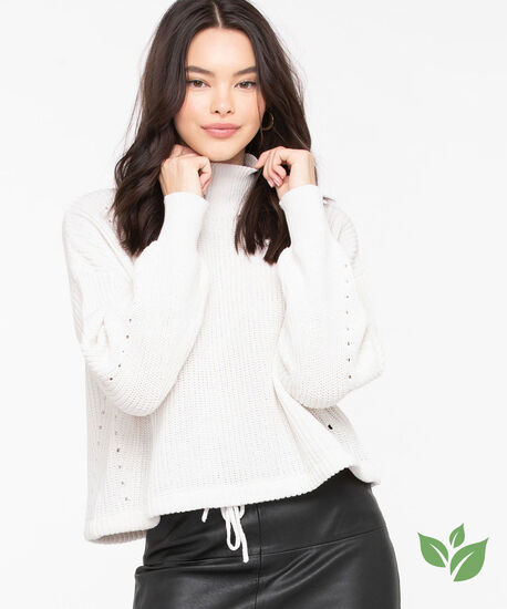 Eco-Friendly Drawstring Sweater, Pristine, hi-res