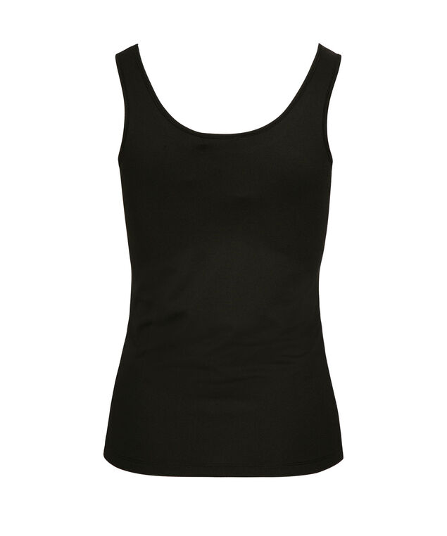 Built-Up Scoop Neck Cami, Black, hi-res