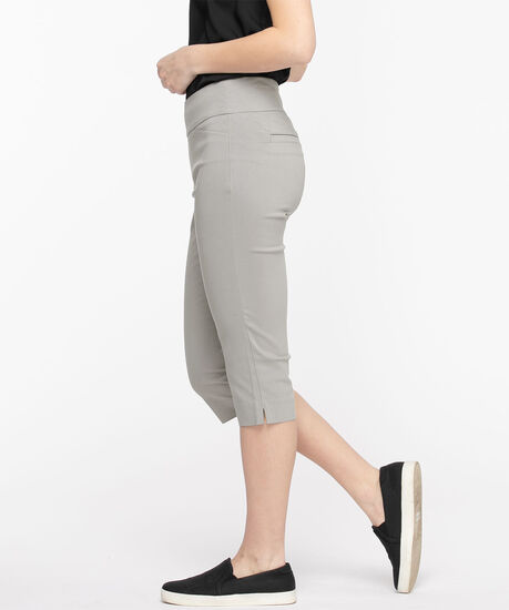 Microtwill Pull-On Capri, Frost Grey, hi-res