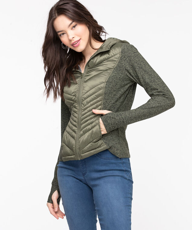 Quilted Athletic Jacket, Four Leaf Clover