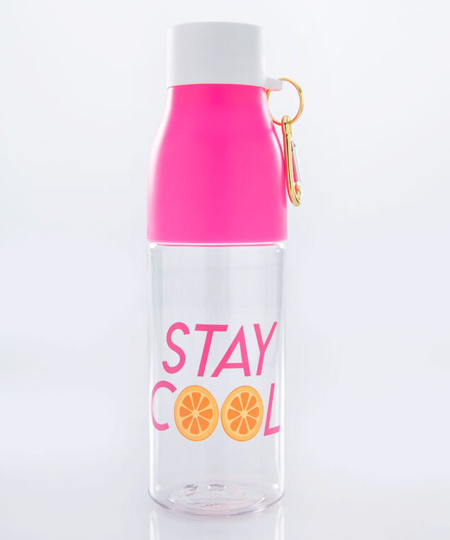 Stay Cool Water Bottle, Pink/Orange, hi-res