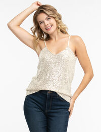 Strappy Sequin Tank Top