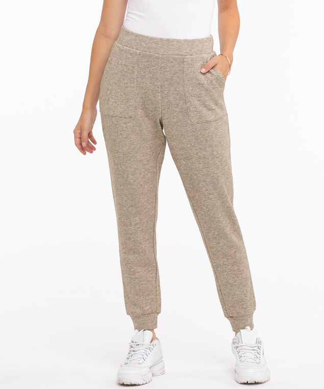 Pull On Knit Jogger, Tobacco Brown