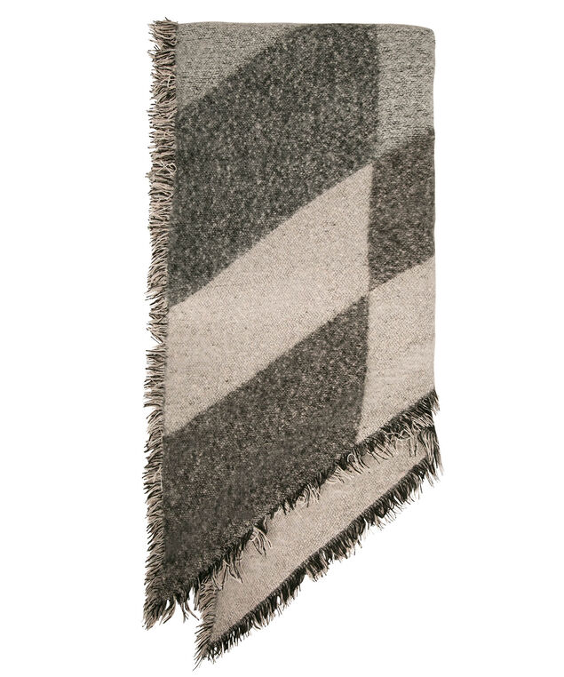 Colour Block Angled Blanket Scarf, Pale Pink/Charcoal/Black, hi-res