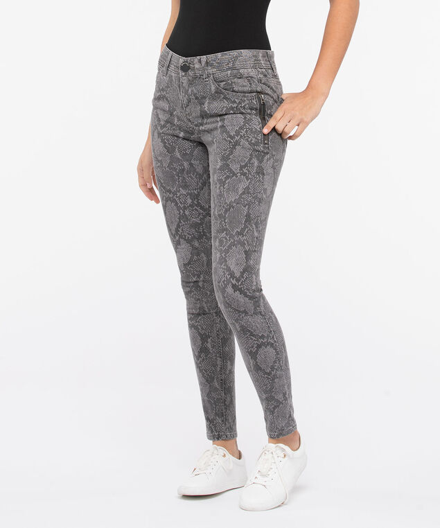 "Democracy ""Ab""solution Snakeskin Jegging, Grey, hi-res"