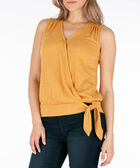Sleeveless Crossover Side-Tie Top, Yellow, hi-res