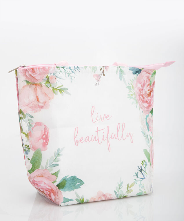 Live Beautifully Insulated Tote, Pearl/Petal Pink, hi-res