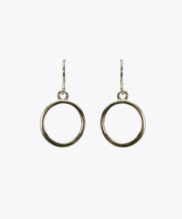 Open Circle Earring, Rhodium, hi-res