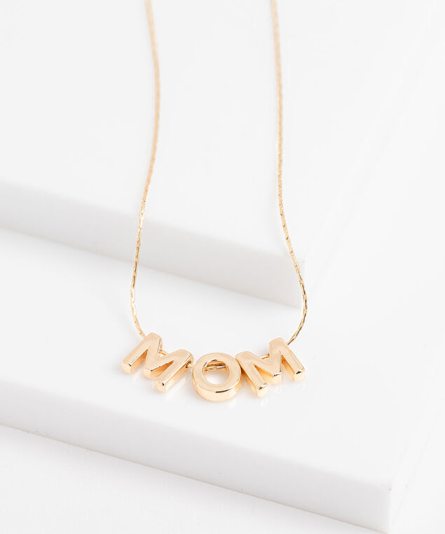 Gold Chain Mom Necklace, Gold