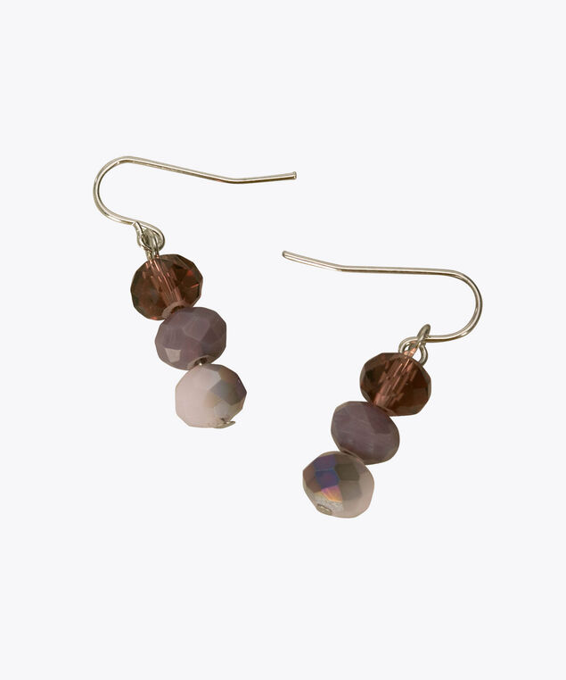 Faceted Stone Drop Earring, Purple/Iced Violet, hi-res