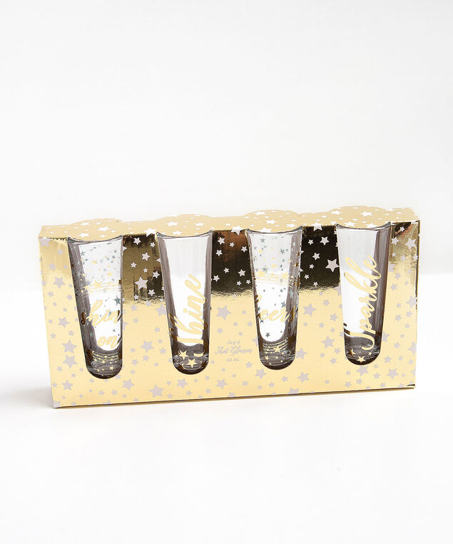Shot Glass Set, Gold/Silver, hi-res