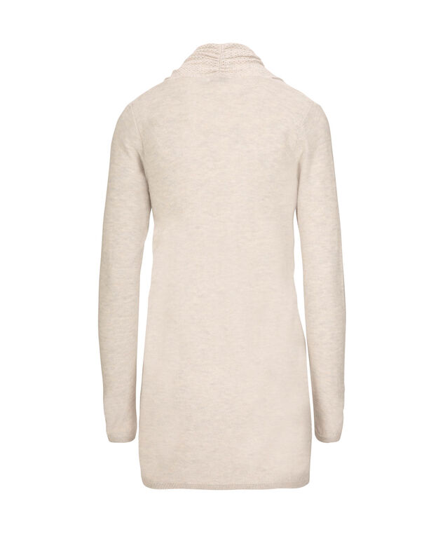 d8e7619e153 Perforated Knit Open Cardigan