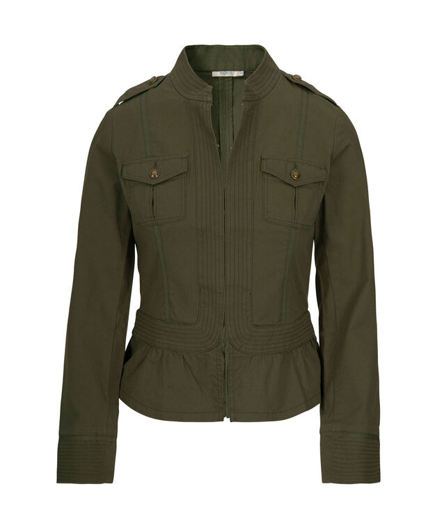 Military Style Blazer, Olive, hi-res