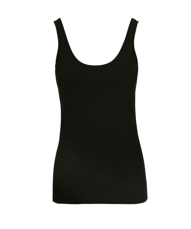 Scoop Neck Cami, Black, hi-res