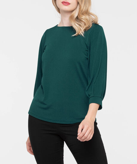 3/4 Sleeve Boat Neck Top by Ricki's