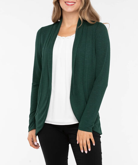 Shawl Collar Cardigan, Deep Green, hi-res