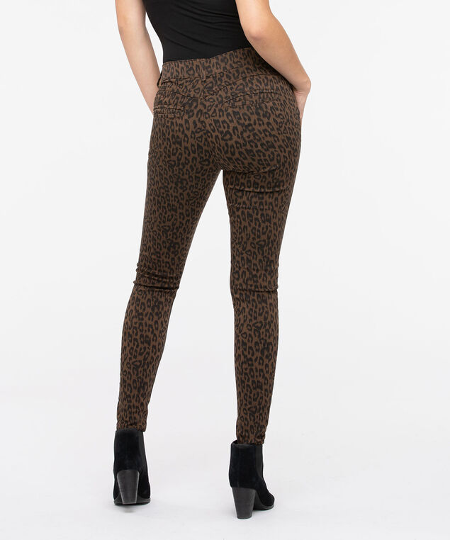 "Democracy ""Ab""solution Animal Print Jegging, Brown, hi-res"