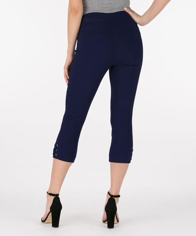 Microtwill Lace Up Capri, Deep Sapphire, hi-res
