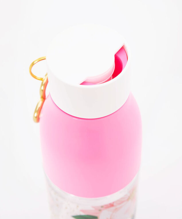 Sparkle Heart Water Bottle, Gold/Bright Pink, hi-res
