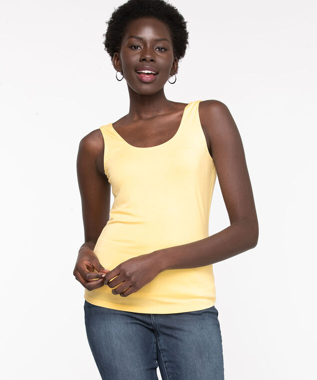 Double Layer Smoothing Cami, Popcorn