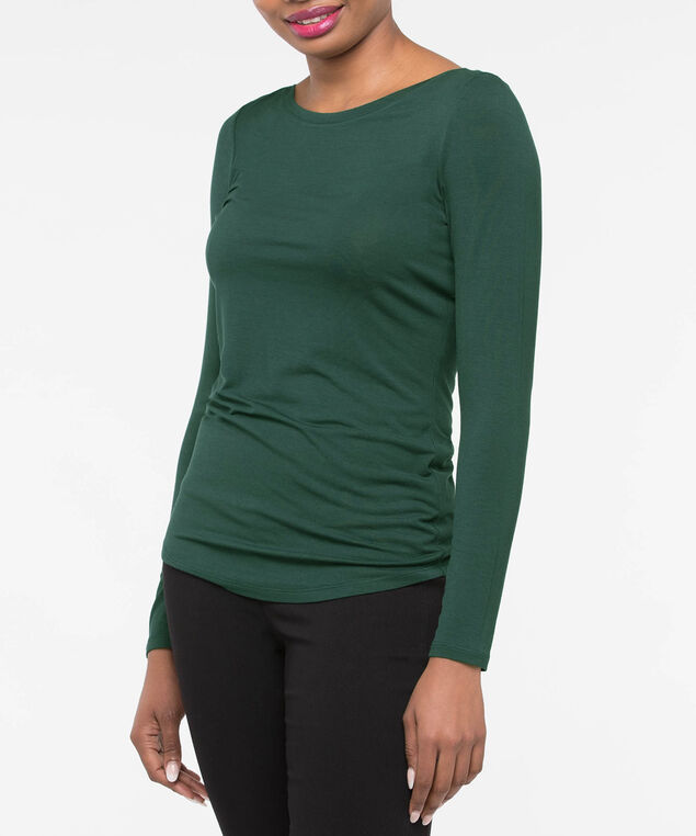 Boatneck Essential Layering Top, Ivy, hi-res