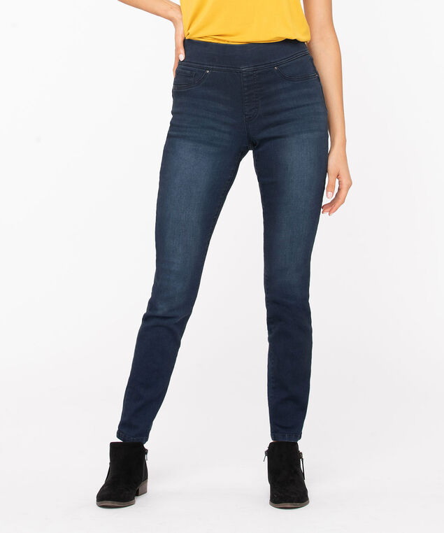 Super Stretch Denim Jegging, Dark Blue