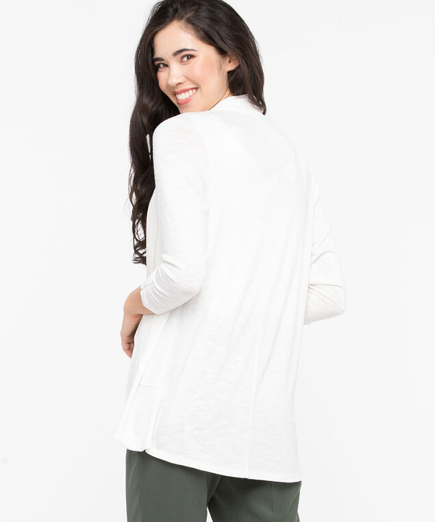 Shawl Collar Cardigan, Pearl, hi-res