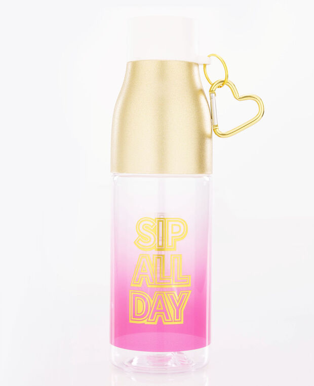 Sip All Day Water Bottle, Gold/Bright Pink, hi-res