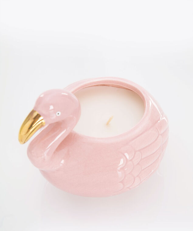 Scented Flamingo Candle, Pink/Gold, hi-res