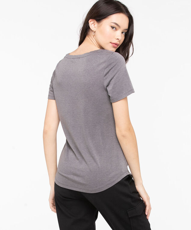 Scoop Neck Graphic Tee, Charcoal/Pearl, hi-res