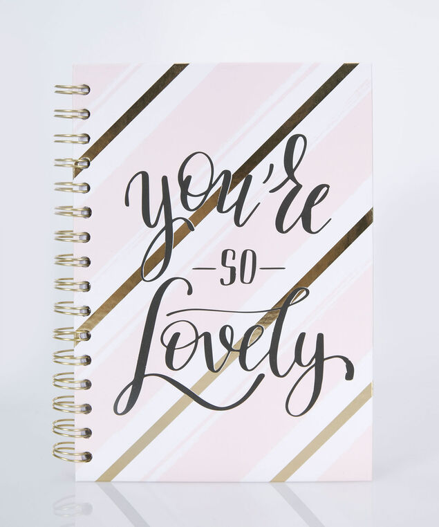 You're So Lovely Spiral Notebook, Gold/Pink/Black, hi-res
