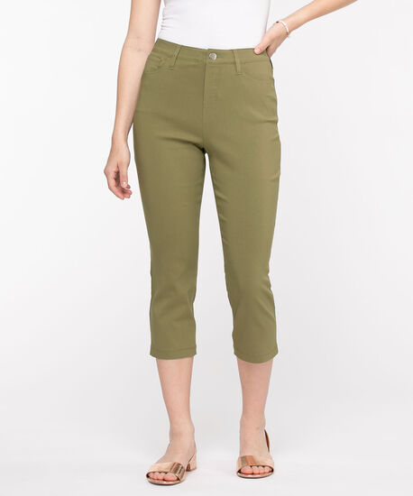 Microtwill Pull-On Crop Pant, Capulet Olive, hi-res