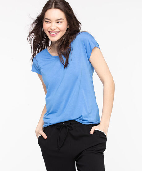 Extended Sleeve Layering Essential Tee, Marina, hi-res